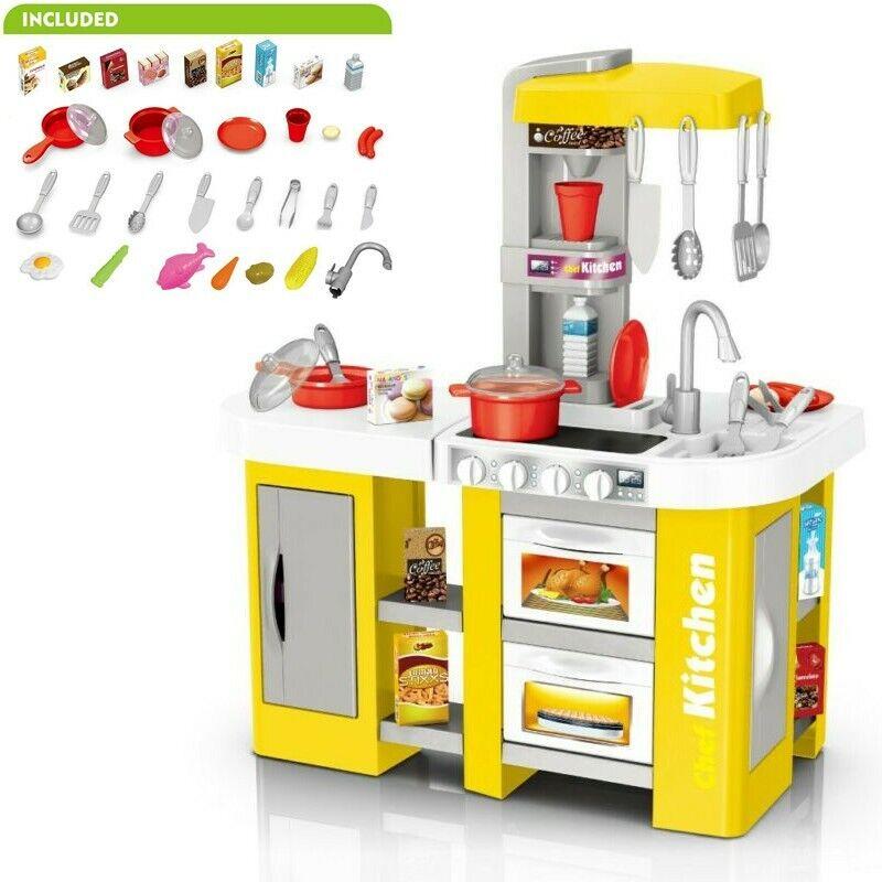 Pretend Kitchen Play Set Baker Kids Toy Cooking Playset Girl