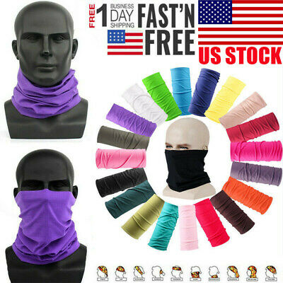 Unisex Head Face Neck Gaiter Tube Bandana Scarf Beanie Dustproof Outdoor Sports
