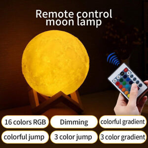 16 Colors RGB 3D LED Moon Lamp with Remote &Touch Control