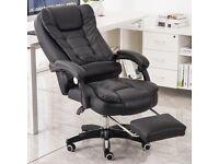 Luxury 2021 Office chair with swivel recliner & legrest. UK STOCK!!!
