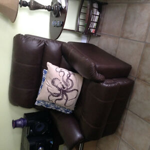 Two reclining couch chairs