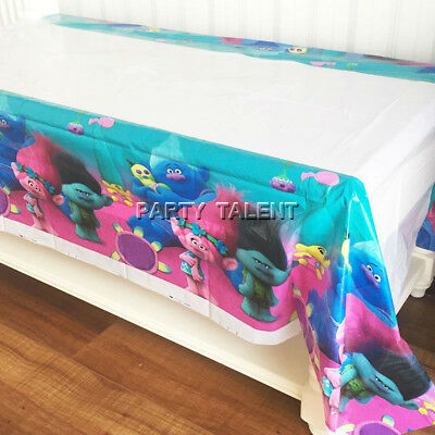 1pcs Trolls Theme Birthday Party Decoration Disposable Table Cloth Table - 1 Birthday Theme