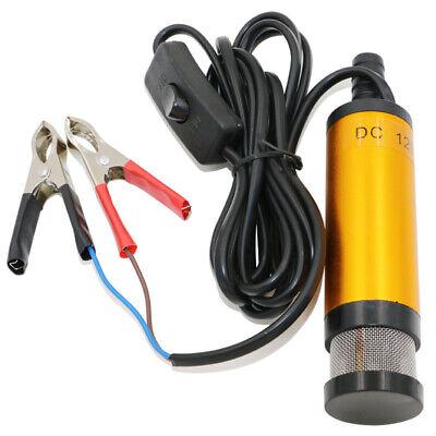 Portable 12v 38mm Dc Electric Fuel Transfer Pump Kerosene Oil Diesel Water