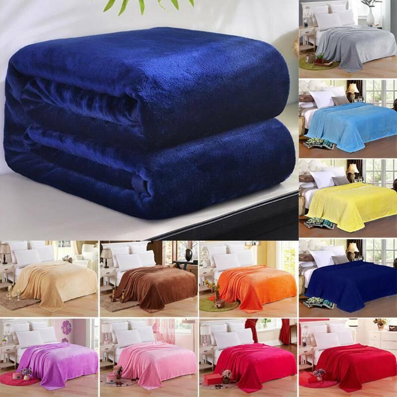 Super Soft Throw Plush Velvet Blanket Sofa Home Bed Fleece T