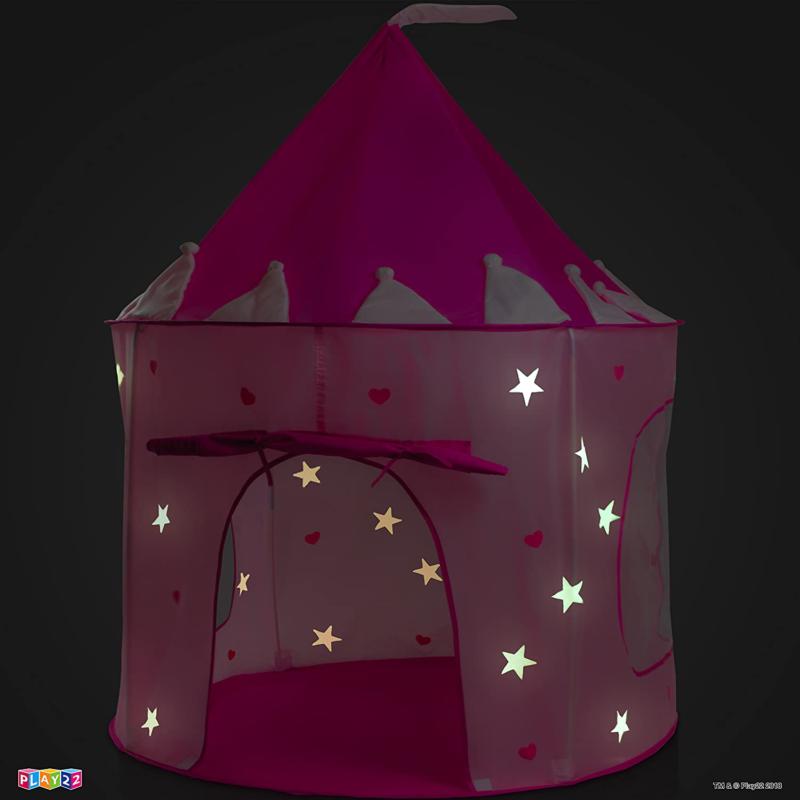 Castle Pink Kids Glow in The Dark Stars PORTA