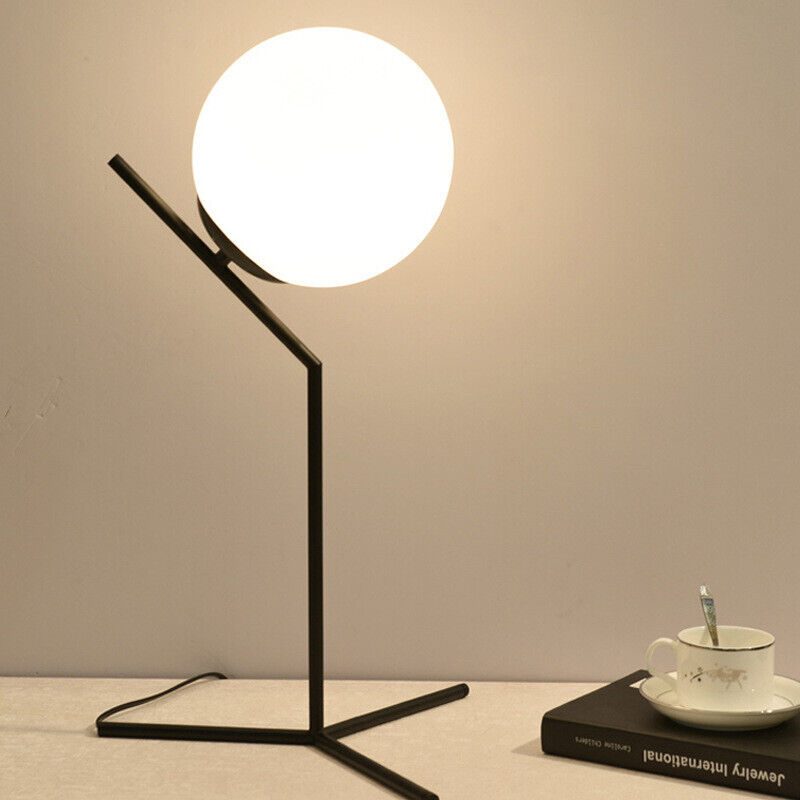 Gl Ball Table Lamps For Bedroom Led