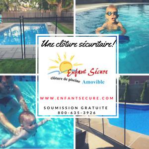 Installateur de clôture amovible pour piscine : Enfant Sécure