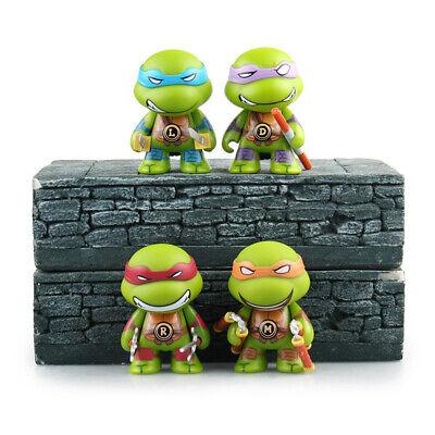 Teenage Mutant Ninja Turtles TMNT Cute Action Figures 4 pcs Set Toys Cake Topper - Teenage Mutant Ninja Turtle Cake