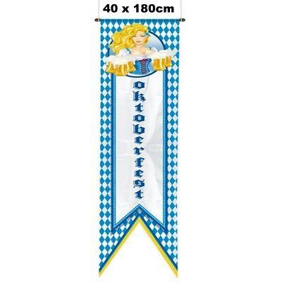 Bayrischer RAUTEN BANNER Fahne Oktoberfest Wiesn Deko Straßenbanner 1,80 x 0,40m