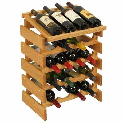 Wooden Mallet Dakota 5 Tier 20 Bottle Display Wine Rack in Light Oak for sale  Sterling