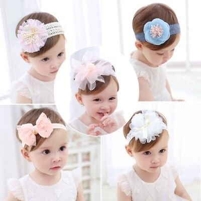 Bow/Flower Design Baby Headband Various Colors Lace Hair Accessories Photo Prop