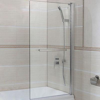 New 6mm Glass 180° Pivot Square Framed Over Bath Shower Screen Door Panel