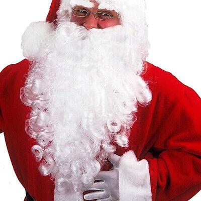 Barba con baffi finta Babbo natale elastico e fodera interna costume natalizio
