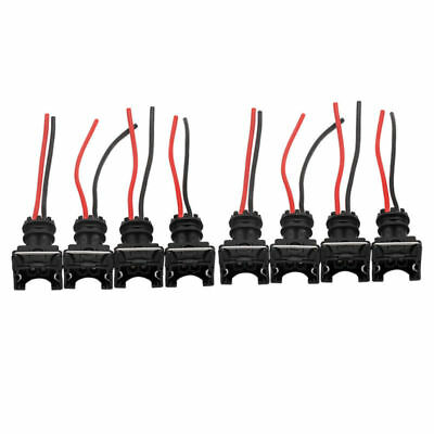 8 - EV1 Fuel Injector Connector Plug Clip Pigtail Quick Disconnect  Black