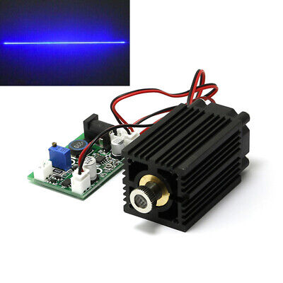 450nm Focusable Blue Line Laser Diode Module 2w Cooling Fan Ttl Ac Adapter