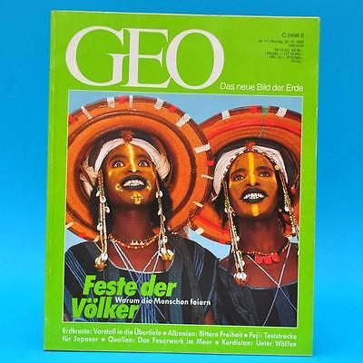 GEO Magazin 11/1992 Tiefbohrung Quallen Kurdistan Fuji Bühnenbilder Albanien