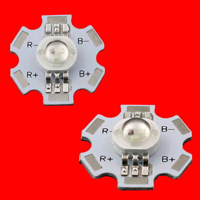 10pcs X 3w Rgb Color High Power Led Chip Light 6 Pin With 20mm Star Base For Diy