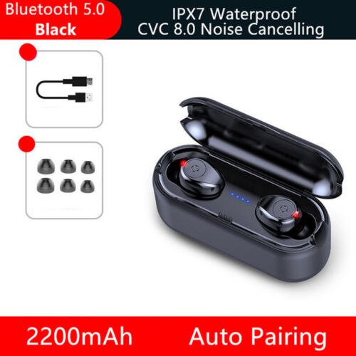 TWS Bluetooth 5.0 Headset Wireless Dual Headphones Stereo Earphones Mini Earbuds