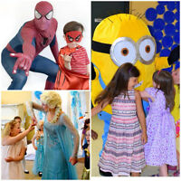 Book a kids party! Princess, superhero, mascots...
