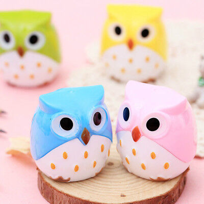 2pcs Manual Owl Pencil Sharpeners Gifts for School Office Stationery Supplies