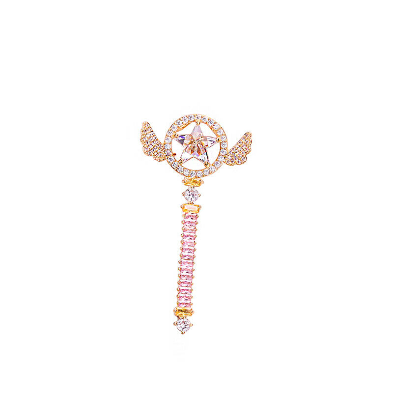 Card Captor Sakura Star Magic Wand Stick Brooch Girl Cute Necklace Pendant Gift