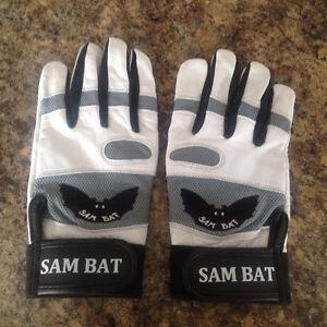 Sam Bat Baseball Batting Gloves - size: Mens Large