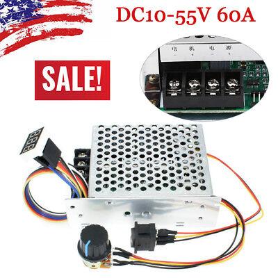 Dc10-55v 12v 24v 36v 40a Pwm Motor Speed Controller Cw Ccw Reversible Switch