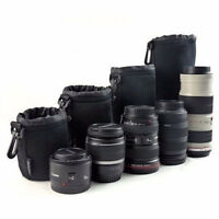 Canon+Nikon DSLR Lens Bag Padded Pouch Protector 4Cover:S/M/L/XL