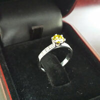 GORGEOUS 18K WHITE GOLD FANCY DIAMOND RING APPRAISED AT $ 10,000