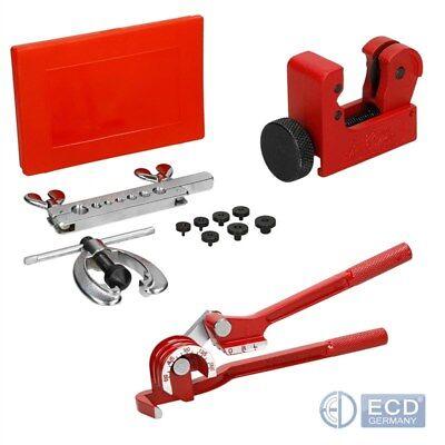 Bördelwerkzeug Bördelgerät Biegezange Bremsleitung 3-Tlg Set Satz Werkzeug KFZ
