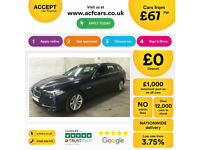 Blue BMW 520 2.0TD Touring Auto 2015 d SE FROM £67 PER WEEK!