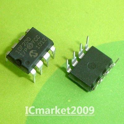 10 Pcs Pic10f200-ip Dip-8 10f200-ip 8-pin 8-bit Flash Microcontrollers