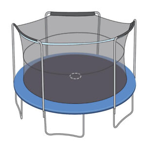 ENCLOSURE NET FOR 15FT TRAMPOLINES - FITS 3 ARCH POLES