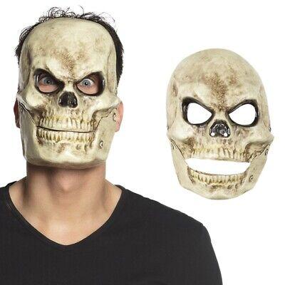 Totenkopf Maske mit beweglichem Kiefer Schädel Horror Grusel - Kopf Maske