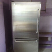 GM Profile Stainless Steel Refridgerator with Bottom Freezer