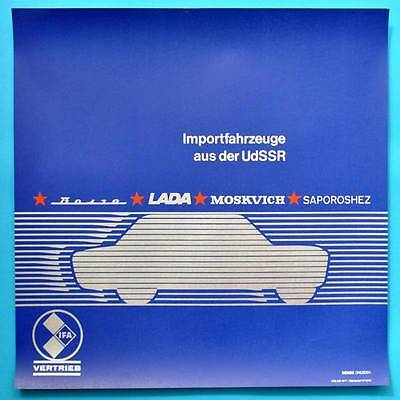 DDR Plakat Poster | IFA Wolga Lada Moskwitsch Saporoshez 50 x 50 cm Original 18
