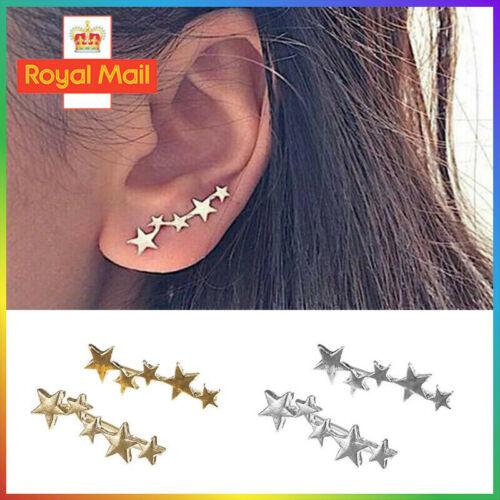 Jewellery - Tiny Star Stud Earring Ear Climber Cuff Earrings Ear Crawler Jewelry Earrings UK