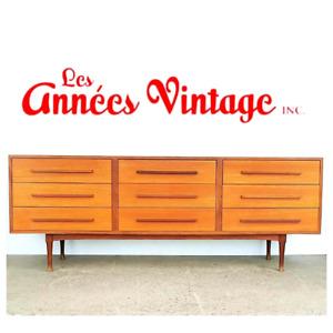 Commode RS Teck  Vintage Teak Dresser 1967