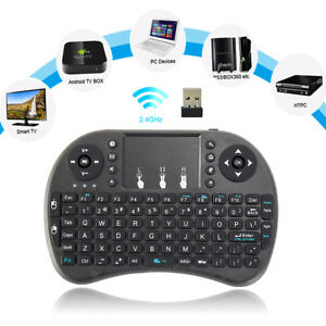 2.4GHz Mini Wireless Keyboard Mouse Touchpad Slim Android Smart TV BOX Pad PC