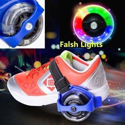 Flashing Roller Skates (Adjustable 4 Wheel Child Kids Runaway Speed Flashing Roller Skate Shoe)