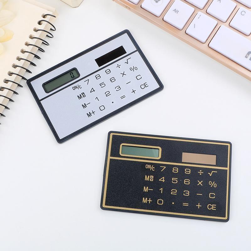 Portable Mini Calculator Pocket Handheld Scientific Small Wallet Storage Solar