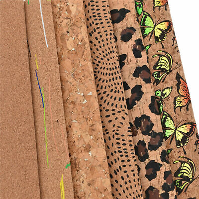 A4 Soft Cork Leather Fabric DIY Handmade For Clothing Bags Sewing Accessories US