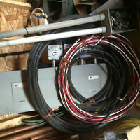 Large 3 phase panel . Teck cable and other copper wire