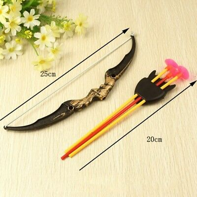 Kids Gifts Toys Bow and Arrow Double-edged Sword With 3 Sucker Archery Newest UK