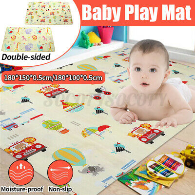 Baby Crawling Play Mat Cartoon Children Double-sided Folding Crawl Pad
