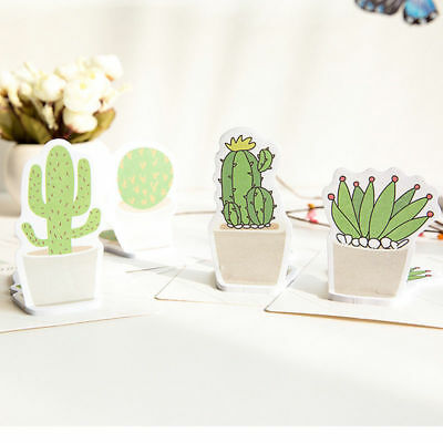 30pagespack Fresh Cactus Sticker Post Sticky Notes Pads Cute Bookmark Memo