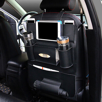 Universal Car Multi-Pocket Leather Seat Back Bag Organizer Storage Holder