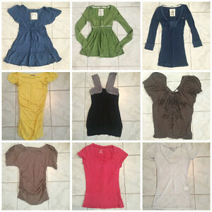 Clothing - XS & S - Dynamite, Hollister, Abercrombie & Fitch etc