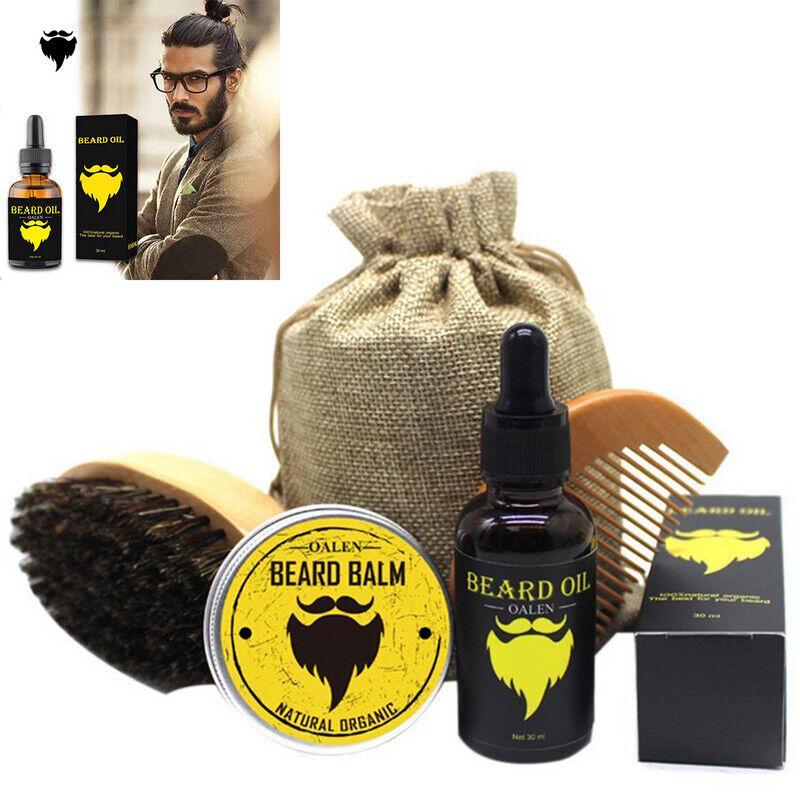 Beard Comb and Brush Grooming Set Home & Travel Hair Kit Chr