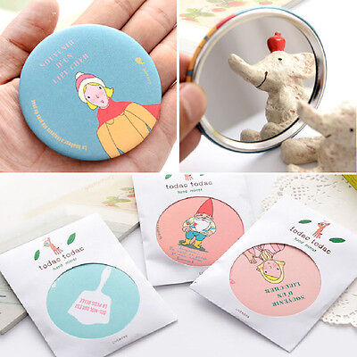 Portable Compact Pocket Cosmetic Mirror Women Makeup Mirror Cartoon - Pattern Compact Mirror